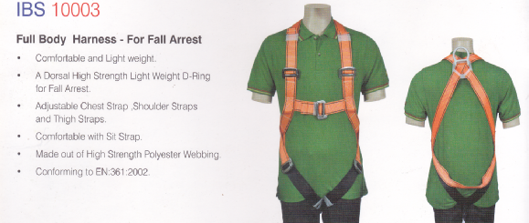 IBS10003 Full body harness safety belt Fall arrestor chennai