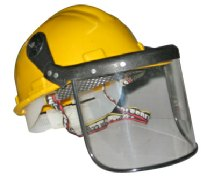 safety hard hat helmet with face shield visor