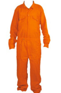 Boiler coverall suit orange